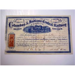 Columbus & Indiana Central Railway Co., Issued Stock.