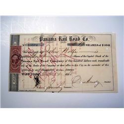 Panama Rail Road Co., Issued Stock.