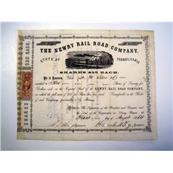 Newry Rail Road Co., Issued Stock.