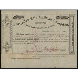 Charleston City Railway Co., Issued Stock.