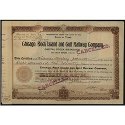 Chicago, Rock Island and Gulf Railway Co., Issued Stock.