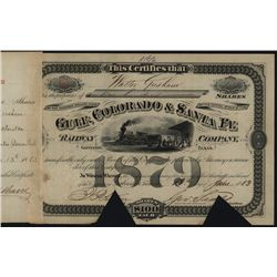 Gulf, Colorado & Santa Fe Railway Co., Issued Stock.