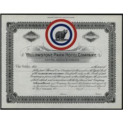 Yellowstone Park Hotel Co., Unissued Stock.