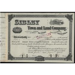 Sibley Town and Land Co., Issued Stock.