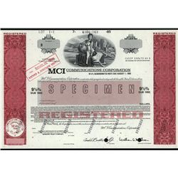 MCI Communications Corp., Specimen Bond.