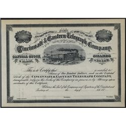 Cincinnati & Eastern Telegraph Co., Unissued Stock.