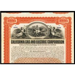 California Gas and Electric Corp., Specimen Bond.