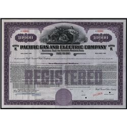 Pacific Gas and Electric Co., Specimen Bond.
