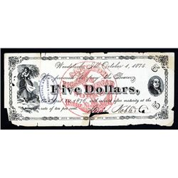 Heinz, Noble & Company - Anchor Pickle & Vinegar Works Obsolete Banknote.