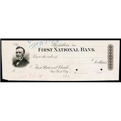 First National Bank, Marshalltown, Iowa Proof Check.