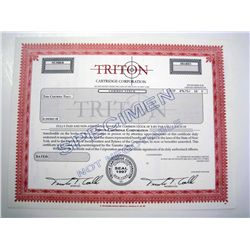 Triton Cartridge Corp., Specimen Stock.