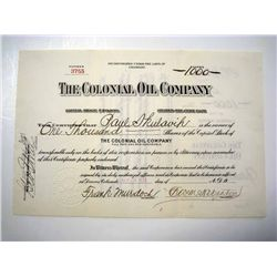 Colonial Oil Co., Issued Stock.
