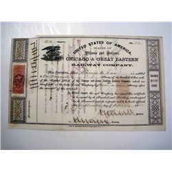 Chicago & Great Eastern Railway Co., Issued Stock.