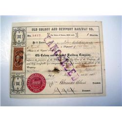 Old Colony and Newport Railway Co., Issued Stock.