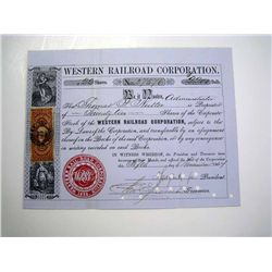Western Railroad Corp., Issued Stock.