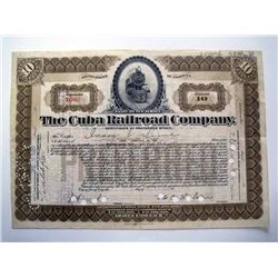 Cuba Railroad Co., Issued Stock.