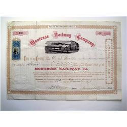 Montrose Railway Co., Issued Stock.