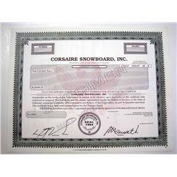 Corsaire Snowboard, Inc., Specimen Stock.