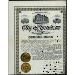 City of Yonkers School Bond, Issued Stock.
