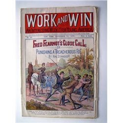 "Work and Win ""An Interesting Weekly for Young America"", 1899."