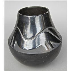 Rose Chino Garcia, (b. 1928), Acoma potter, Black on Black Vessel…