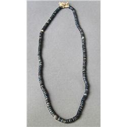 Antique Native American Indian Trade Bead Necklace (Black) …