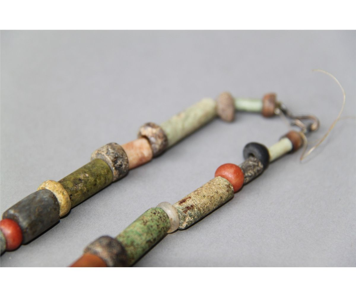 Antique Native American Indian Trade Bead Necklace Multi Color