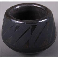 Black on Black Pottery signed JM SOP  (Wider at Bottom) …