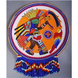 Vintage Native American Indian Heavily Beaded Ritual Shield …
