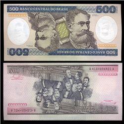 1981 Brazil 500 Crusados Crisp Uncirculated Note (CUR-05573)