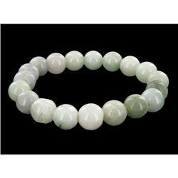 200ct Green Jade Bead Bracelet (JEW-2204)