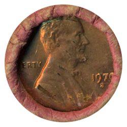 1970S Linc 1c BU RARE UnOpened Bank Roll 50 GEMS (COI-5519)