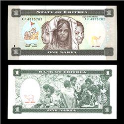 1997 Eritrea 1 Nakfa Crisp Uncirculated Note (COI-4566)