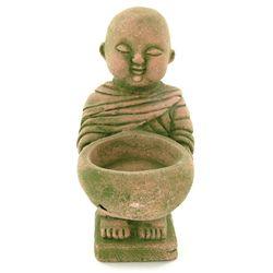 Handcrafted Cast Sandstone Monk Candle Holder (CLB-1030)