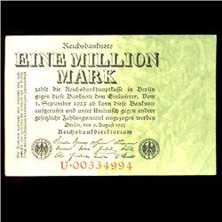 1923 Germany 1m Mark Note Hi Grade (COI-3981)