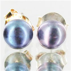 Black Pearl Stud Earrings (JEW-1827)