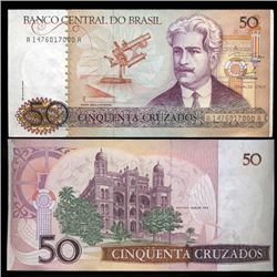 1986 Brazil 50 Crusados Crisp Uncirculated Note (CUR-05575)