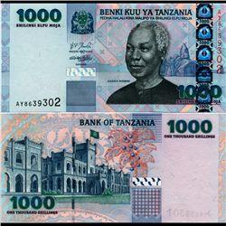 2003 Tanzania 1000 Shilingi Note Crisp Unc (CUR-07136)
