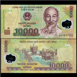 2003 Vietnam 10000 Dong Crisp Unc Note (COI-3893)