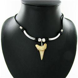 Shark Ivory Choker Necklace (JEW-2951)