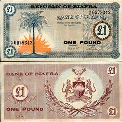 1967 Biafra 1 Pound Note Hi Grade RARE (CUR-07073)