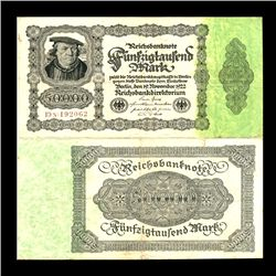 1922 Germany 50000 Mark Note Better Grade (CUR-06655)