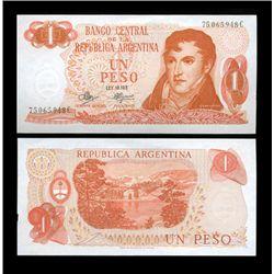 1970 Argentina 1 Peso Note Crisp Uncirculated (CUR-05551)