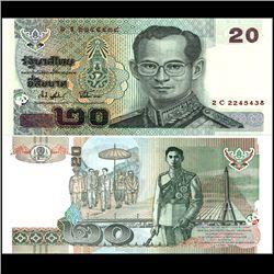 2003 Thailand 20 Baht Crisp Unc Note (CUR-06875)