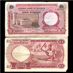 1967 Nigeria 1 Pound Note Hi Grade (COI-3816)