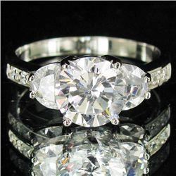 23.19twc Lab Diamond White Gold Vermeil/925 Ring (JEW-3978)