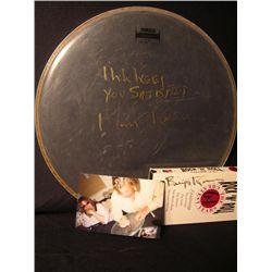 Billy J. Kramer Signed Drum Head