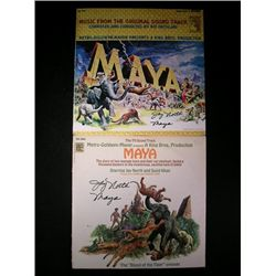 Signed Maya Soundtrack LP's.