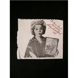 Shirley Temple Signed Clipping