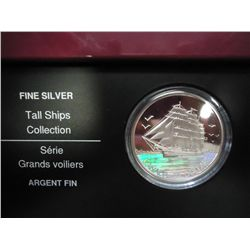 2005 CANADA $20 TALL SHIPS HOLOGRAPHIC PF SILVER